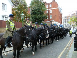 The Queen's Household Cavalry — taking a break!